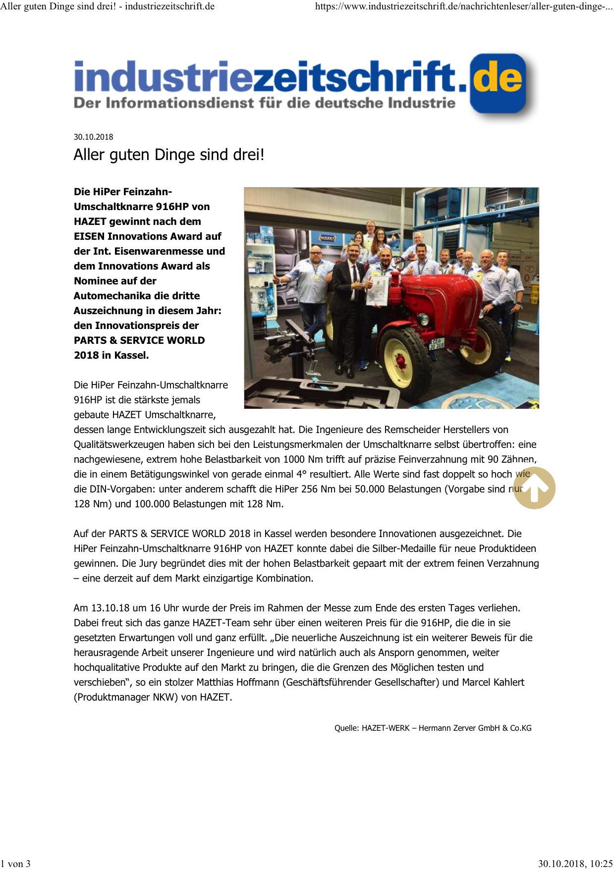 Industriezeitschrift Online