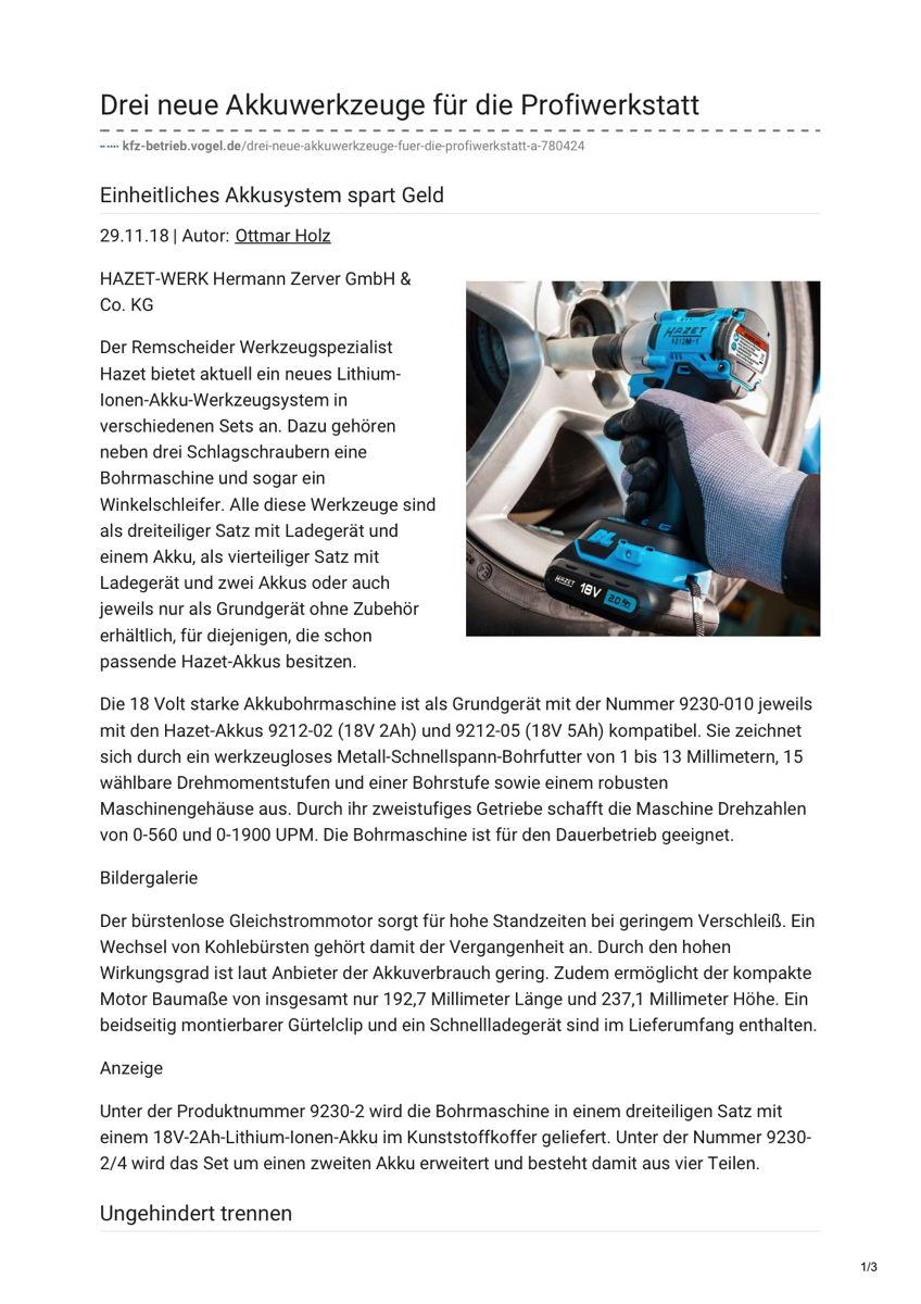 Kfz-Betrieb Online