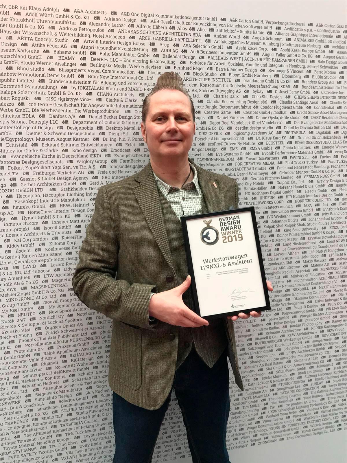 Le prix German Design Award 2019 accordé à la servante d'atelier Assistent 179NXL-6 de HAZET