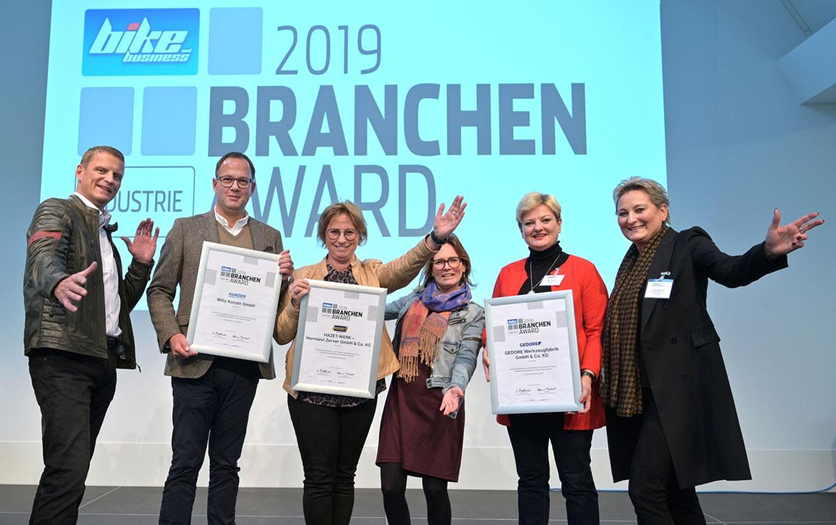 """HAZET gewinnt Branchenaward """"Industrie"""" der Fachzeitschrift """"bike & business"""""""