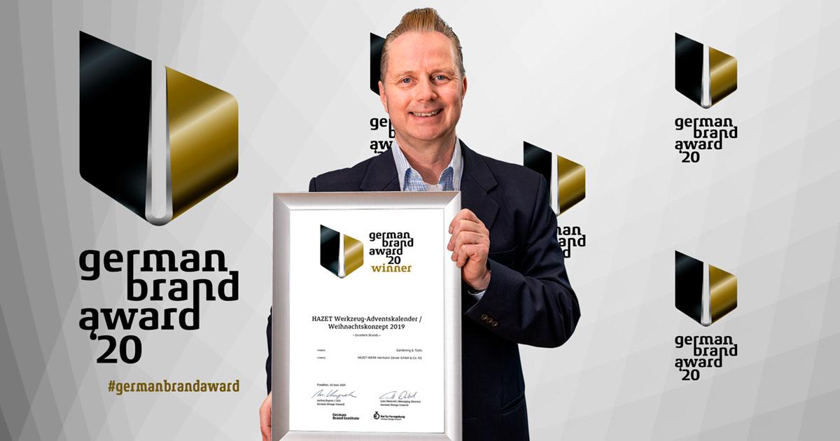 HAZET remporte le German Brand Award pour son concept de communication avec son action de Noël sous forme de calendrier de l'Avent d'outillage!