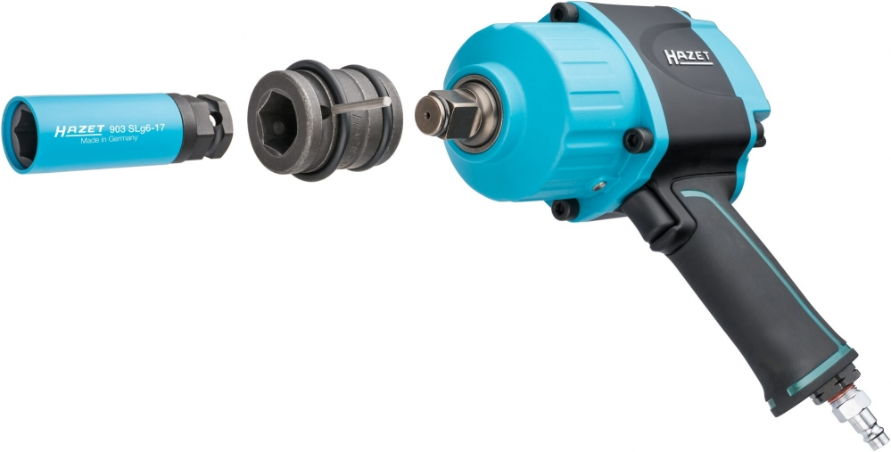Neue HAZET 12,5mm (1/2 Zoll) Schlagschrauber Steckschlüssel-Einsätze mit zusätzlichem Außensechskant