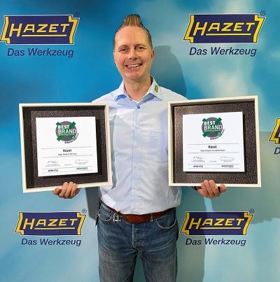 """Alle """"ACHTung""""! HAZET zum 8. Mal in Folge als """"Best Brand"""" von Nfz-Profis gewählt"""