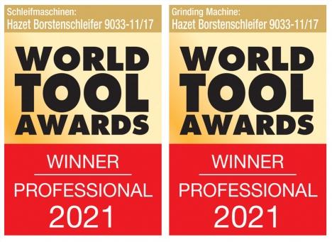 HAZET gewinnt World Tool Award 2021 für Borstenschleifer 9033-11/17